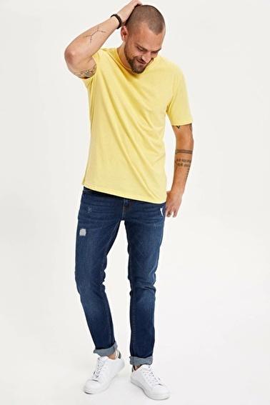 DeFacto Basic T-shirt Sarı